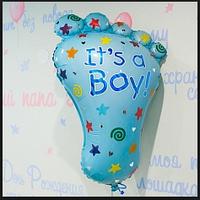 """Набор шаров Ножка """"С рождением малыша""""  для мальчика"""