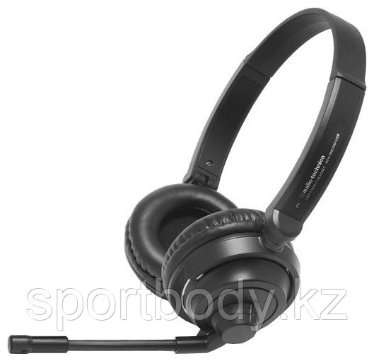 Гарнитура Audio-Technica ATH-750COM USB, 32ohm, 18-22000Hz, 102dB, 2.0m cable, black - Market Place в Алматы
