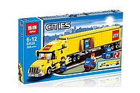 "Конструктор Lepin 02036 ""Желтый Грузовик трейлер"" 298 деталей  аналог LEGO 3221, фото 1"
