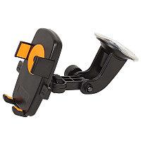 "Автодержатель Perfeo-502-2 для смартфона/навигатора/ до 5""/ на стекло/ One touch/ черный+оранж."