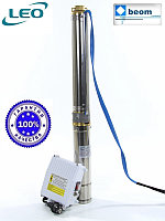 Насос для скважины погружной  3XRm 3.5/28-1.5 LEO | Ø80 мм, max 108 м (с пультом управления и кабелем 30м)