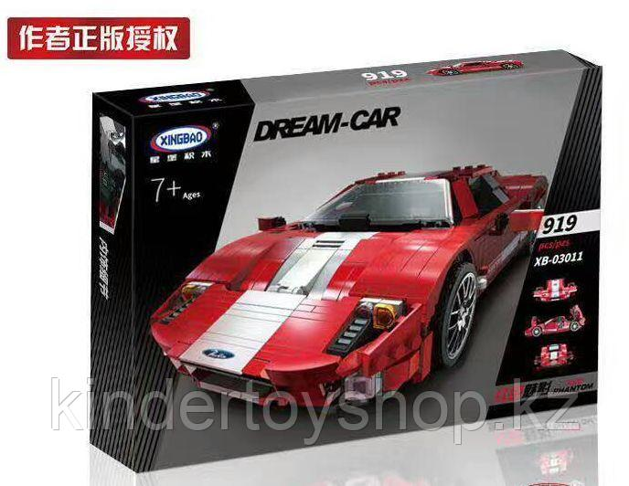 Конструктор XingBao xb-03011 Ford GT Красный Фантом  Red Phantom аналог лего LEGO