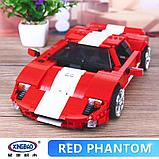 Конструктор XingBao xb-03011 Ford GT Красный Фантом  Red Phantom аналог лего LEGO, фото 4