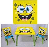 """Столик с двумя стульчиками """"Спанч Боб"""", фото 2"""