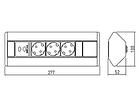 УДЛИНИТЕЛЬ УГЛОВОЙ GTV AE-PBKT3S2U-80 (НА 3 РОЗЕТКИ, 2 USB), фото 8