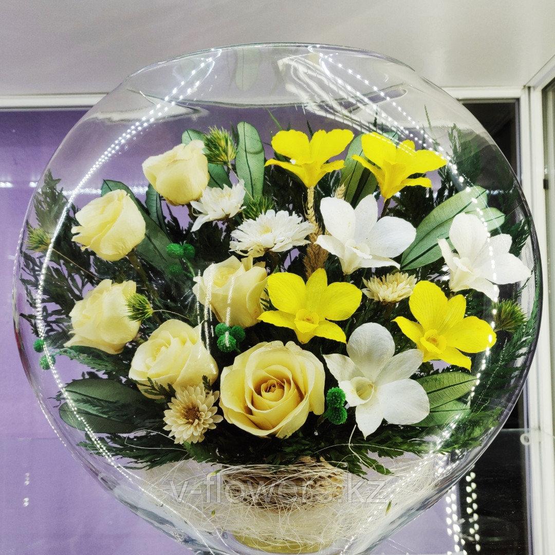 Живые цветы в стекле ELMc