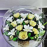 Живые цветы в стекле ELMc, фото 2