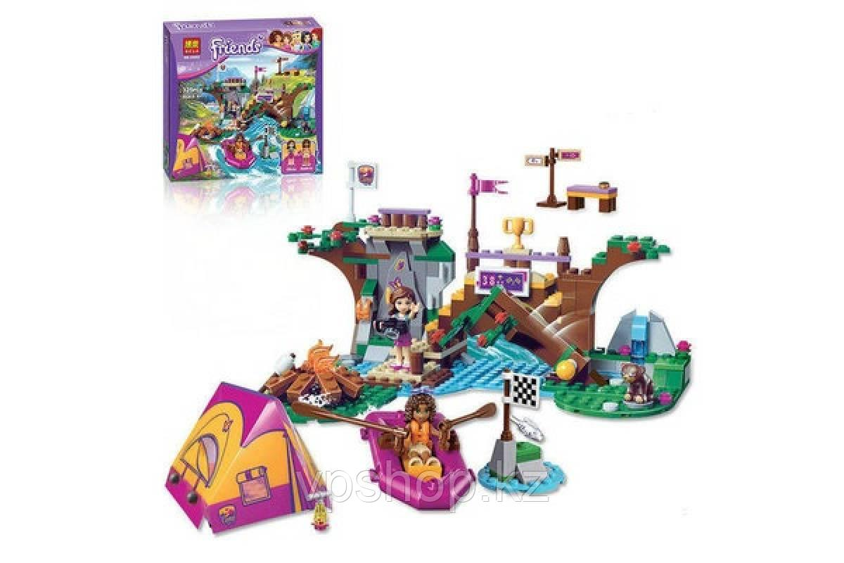 "Конструктор Bela Friends 10493 ""Спортивный лагерь: сплав по реке"" (аналог LEGO Friends 41121), 325 дет​алей"