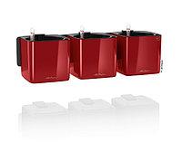 Вазоны LECHUZA Green Home Kit Glossy 17*17*H14см красный блестящий