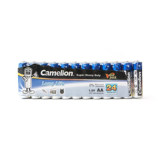 Батарейка, CAMELION, R6P-SP24B, Super Heavy Duty, AA, 1.5V, 1220 mAh, 24 шт., Плёнка
