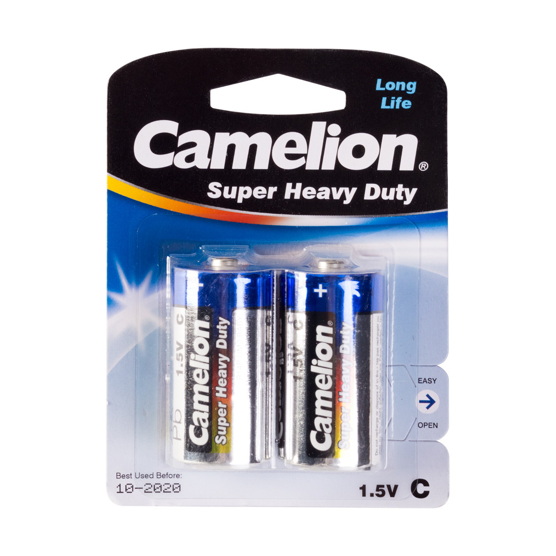 Батарейка, CAMELION, R14P-BP2B, Super Heavy Duty, C, 1.5V, mAh, 2 шт., Блистер
