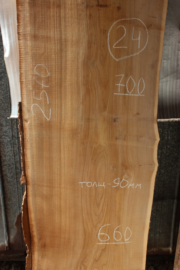Слэб из карагача 24 (2570 х 700 х 90 мм)