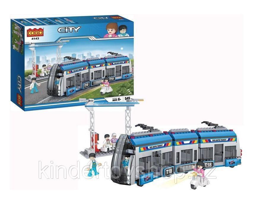 Конструктор COGOCITY 4143 Городской трамвай 545 деталей аналог  Lego 8404