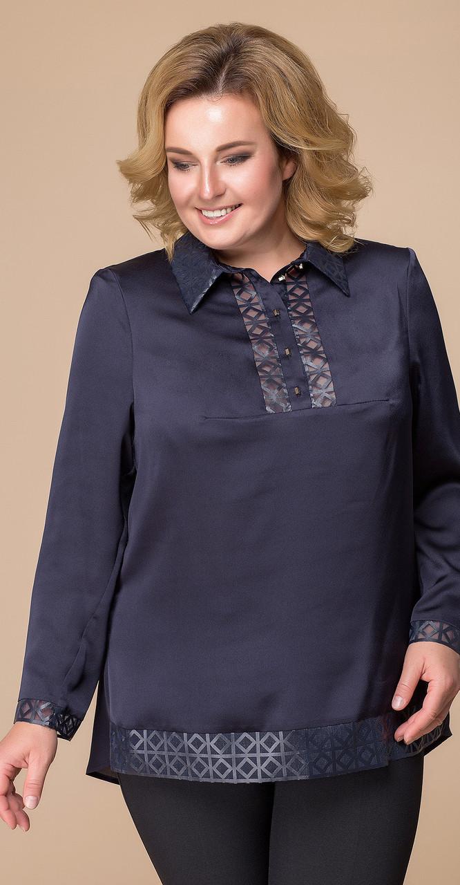 Блузка Romanovich-5-1538, темно-синий, 54