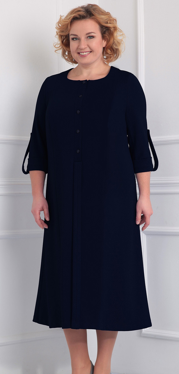 Платье Novella Sharm-2860-1, темно-синий, 60
