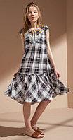 Платье Nova Line-5721, клетка серая, 42