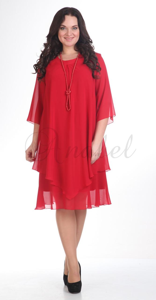 Платье Pretty-242/4, красный, 56