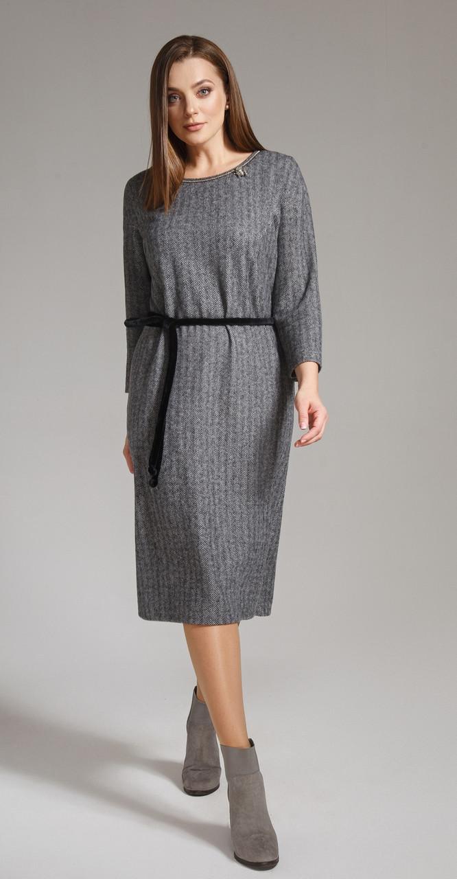 Платье Anna Majewska-1158, серые тона, 50