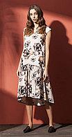 Платье Nova Line-5801, цветы, 42