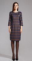 Платье Anna Majewska-1172, темный+клетка, 50