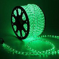 Уличная LED гирлянда дюралайт - бухта 100 метров, 1800 лампочек, водонепроницаемая (зеленый свет)