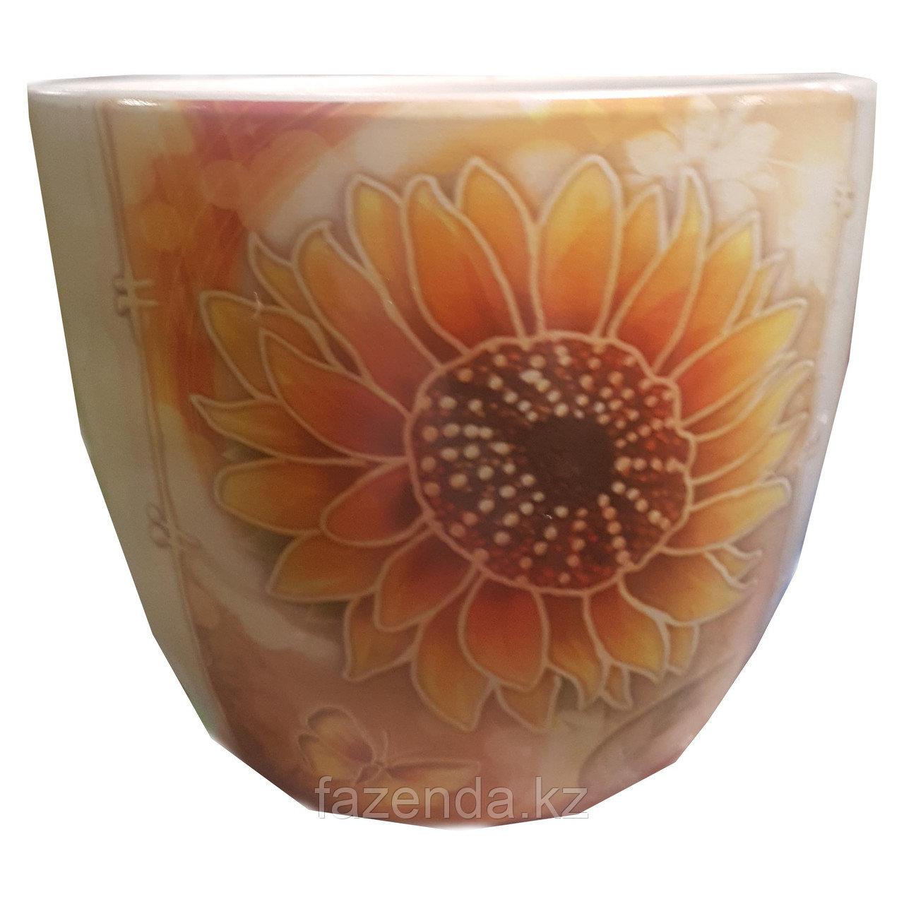 Горшок для цветов керамический Подсолнух