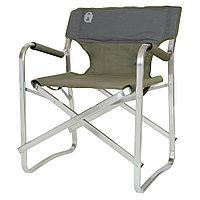Кресло складное Coleman Deck chair, Нагрузка (max): 113 кг, Подлокотники, Цвет: Тёмно-зелёный, Упаковка: Розни