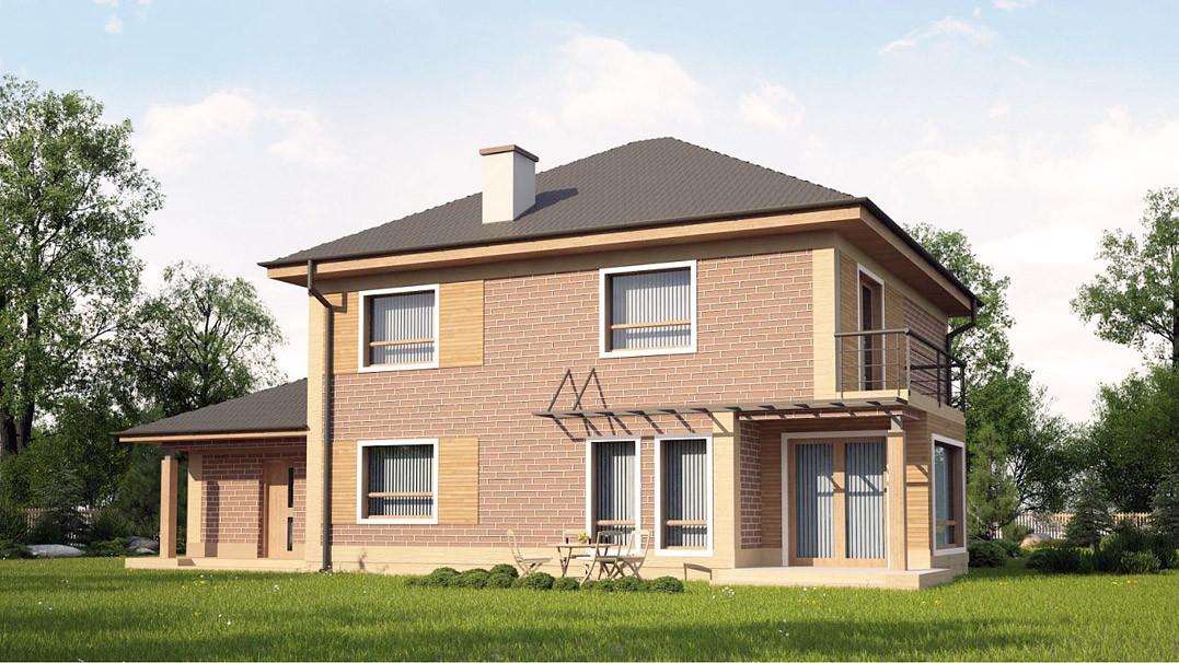 Строительство дома «под ключ» по проекту «Андромеда»