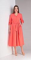 Платье Диамант-1407, красные тона, 46