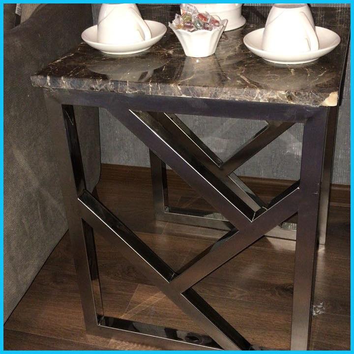 Кофейный столик из нержавеющей стали на заказ
