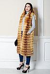 Длинный, метровый меховой жилет из рыжей лисы для Казахстанских модниц, фото 3