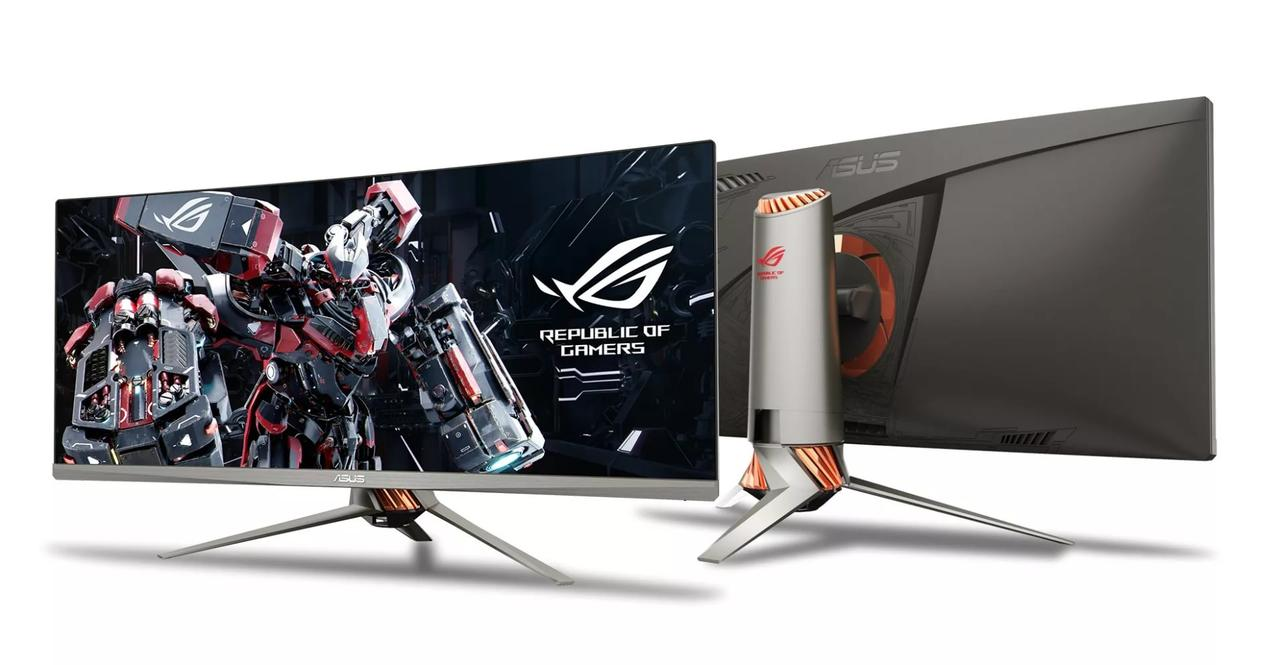 "Монитор Asus ROG SWIFT PG348Q\34"" IPS Curved 3440x1440 100H \G-Sync\21:9\5ms\300c /m2\1K:1\Speak\HDMI\DP\USB\T"