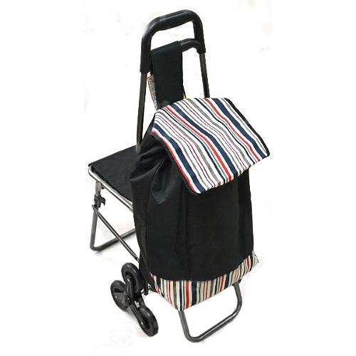 Сумка-тележка для подъёма по ступенькам со стульчиком( расцветки уточняйте)