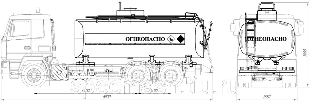Автотопливозапращик АТЗ-17-632