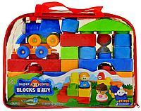 2248 Конструктор Blocks Baby 27 дет паровозик  2 фигурки 26*36