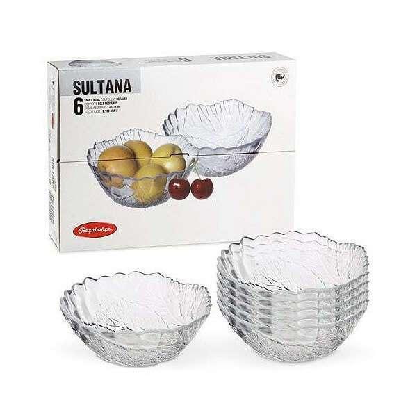 Салатник маленький стеклянный. Набор из 6 салатников Sultana 12см Pasabahce 10286код.