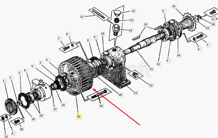 Шкив ДС-143.01.05.103 (Натяжное устройство ремённой передачи ДС-143)