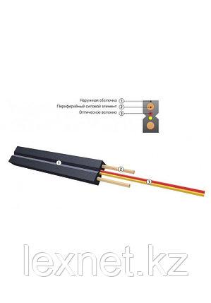 Кабель волоконно-оптический ОКНГ-Т-С1-1.0 (В/Т3) с тремя проволочками синего или черного цвета, плоский, фото 2