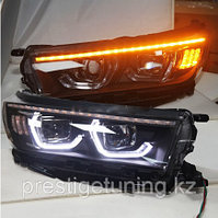 Передняя альтернативная оптика на Highlander 2018-20  дизайн BMW