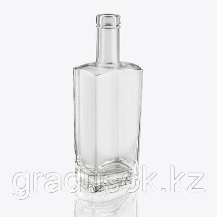 """Бутылка стеклянная """"Гранит"""" 0,5 литра, с корковой пробкой, фото 2"""