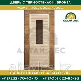 Дверь с термостеклом, бронза | 40*700*1900