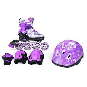 Роликовые коньки IN LINE Skate Pink , фото 2