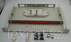 Кросс оптический OK-FDF-1U-24-SC SC/APC SM 8 PORT ALL SET  укомплектованный