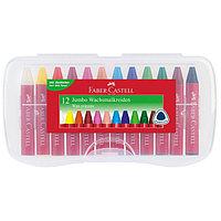 Восковые мелки Клоун, 24 цвета, в картонной коробке.