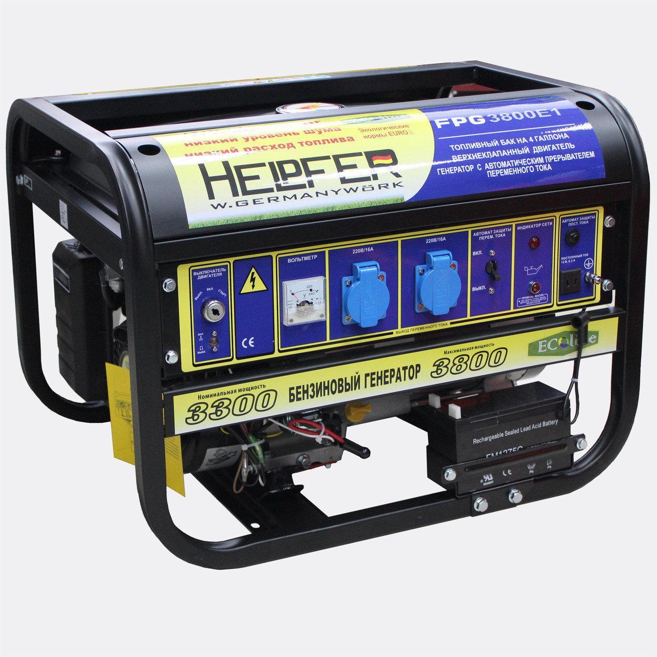 Бензиновый генератор Helpfer FPG 8800E1