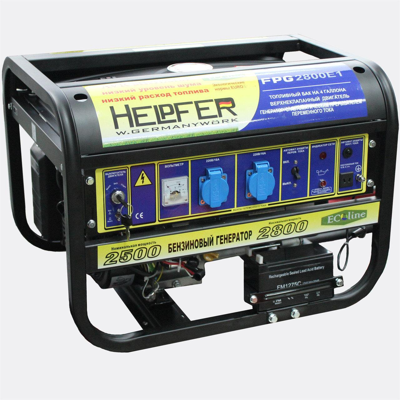 Бензиновый генератор Helpfer FPG1500E1