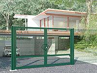 Распашные ворота со стальной рамой и  с заполнением сварной сеткой, фото 1