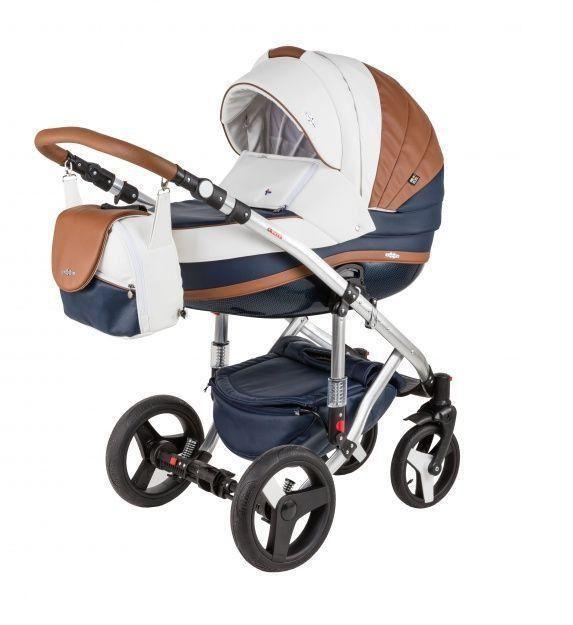 Детская коляска Adamex 3 в 1 Vicco Deluxe каучуковые колеса 101s