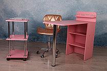 Складной маникюрный столик. Розовый., фото 3
