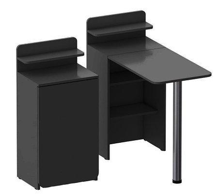 Складной маникюрный столик. Черный., фото 2